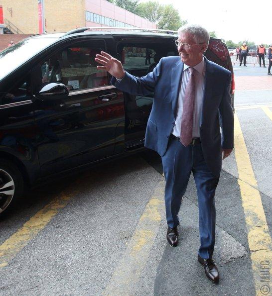 Alex Ferguson chegando ao estádio